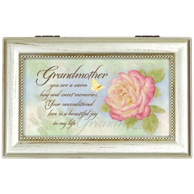 Grandmother Rectangular Music Box music box, trinket box, jewelry box, lined box, grandmother music box, grandmother gift, 18284