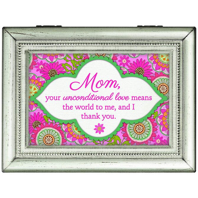 Mom your Unconditional Love Music Box music box, trinket box, jewelry box, lined box, mom music box, mom gift, mother music box, mother gift, 18529