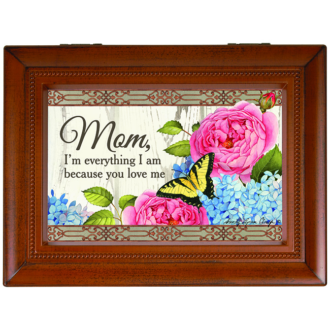 Mom You Love Me Music Box music box, trinket box, jewelry box, lined box, mom music box, mom gift, mother music box, mother gift, 18531