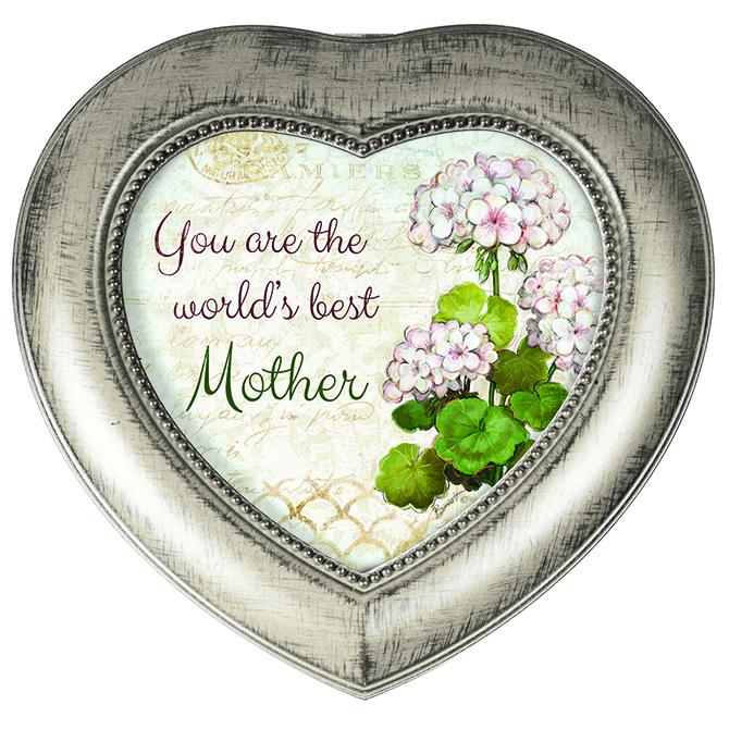 Best Mother -Heart Music Box music box, trinket box, jewelry box, lined box, mom music box, mom gift, heart box, heart music box, 18538