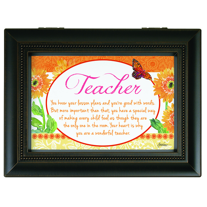 Teacher Music Box  music box, teacher gift, end of school gift, keepsake box, jewelry box, 18591