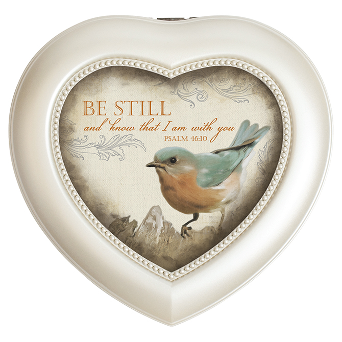 Be Still Heart Music Box inspirational music box, music box, keepsake box, jewelry box,18638