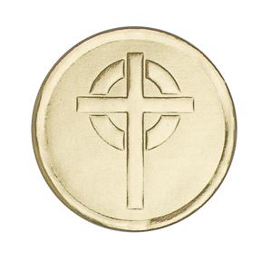 Gold Cross Embossed Seal gift wrap, sticker, gift seal, envelope seal, tissue wrap seal , sacramental occasion, STW-3