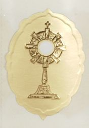 Embossed Monstrance Seal gift wrap, sticker, gift seal, envelope seal, tissue wrap seal , sacramental occasion, STW-21