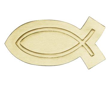 Gold Fish Embossed Seal gift wrap, sticker, gift seal, envelope seal, tissue wrap seal , sacramental occasion, STW-20