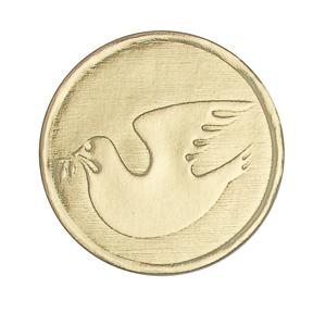 Gold Dove Seal gift wrap, sticker, gift seal, envelope seal, tissue wrap seal , sacramental occasion, STW-01