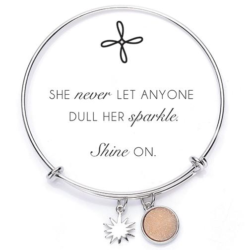 Druzy Bangle Bracelet-Sand/Gold 22004,bracelet, gift, retreat gifts, prayer bracelets, prayer gifts, inspirational gift, sacramental gift, bangle bracelet
