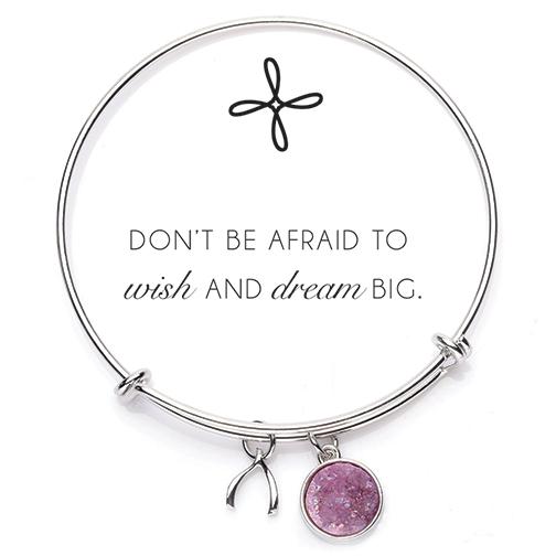Druzy Bangle Bracelet-Pink/Rhodium 21996,bracelet, gift, retreat gifts, prayer bracelets, prayer gifts, inspirational gift, sacramental gift, bangle bracelet