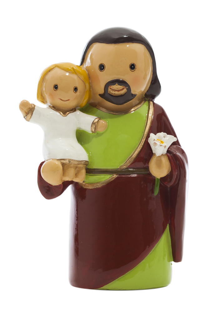 Saint Joseph Statue statue, resin, portugal, saint statue, gift, sacramental gift, stocking stuffer,st joseph, patron saint of families, male saint