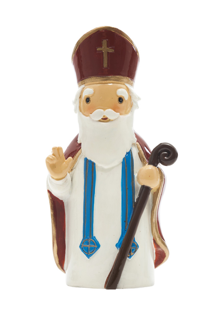 Saint Nicholas Statue statue, resin, portugal, saint statue, gift, sacramental gift, stocking stuffer,st nicholas, patron saint of children, male saint