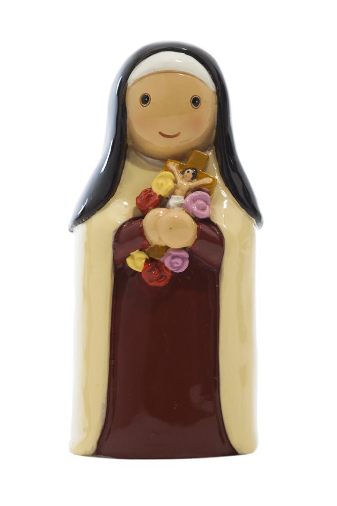 Saint Theresa Statue statue, resin, portugal, saint statue, gift, sacramental gift, stocking stuffer,st theresa, patron saint of the poor, female saint