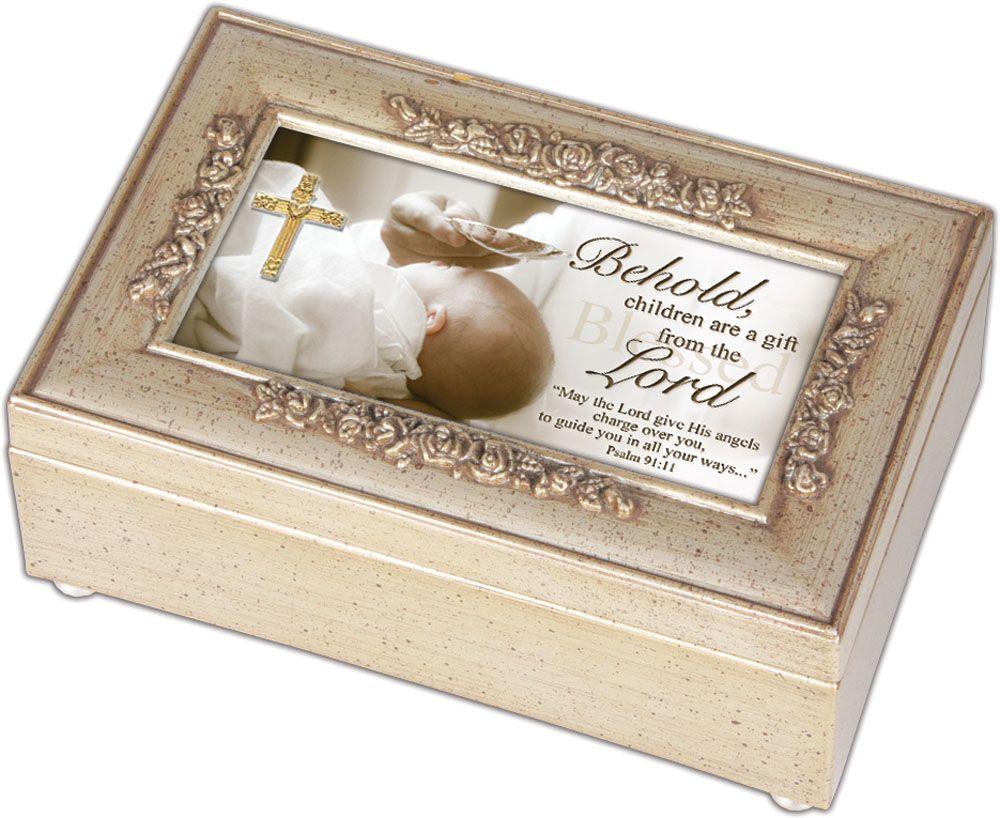 Behold Baptism Music Box baby gift, baby musical, baptism gift, christening gift, music box, petite box, PR118SC