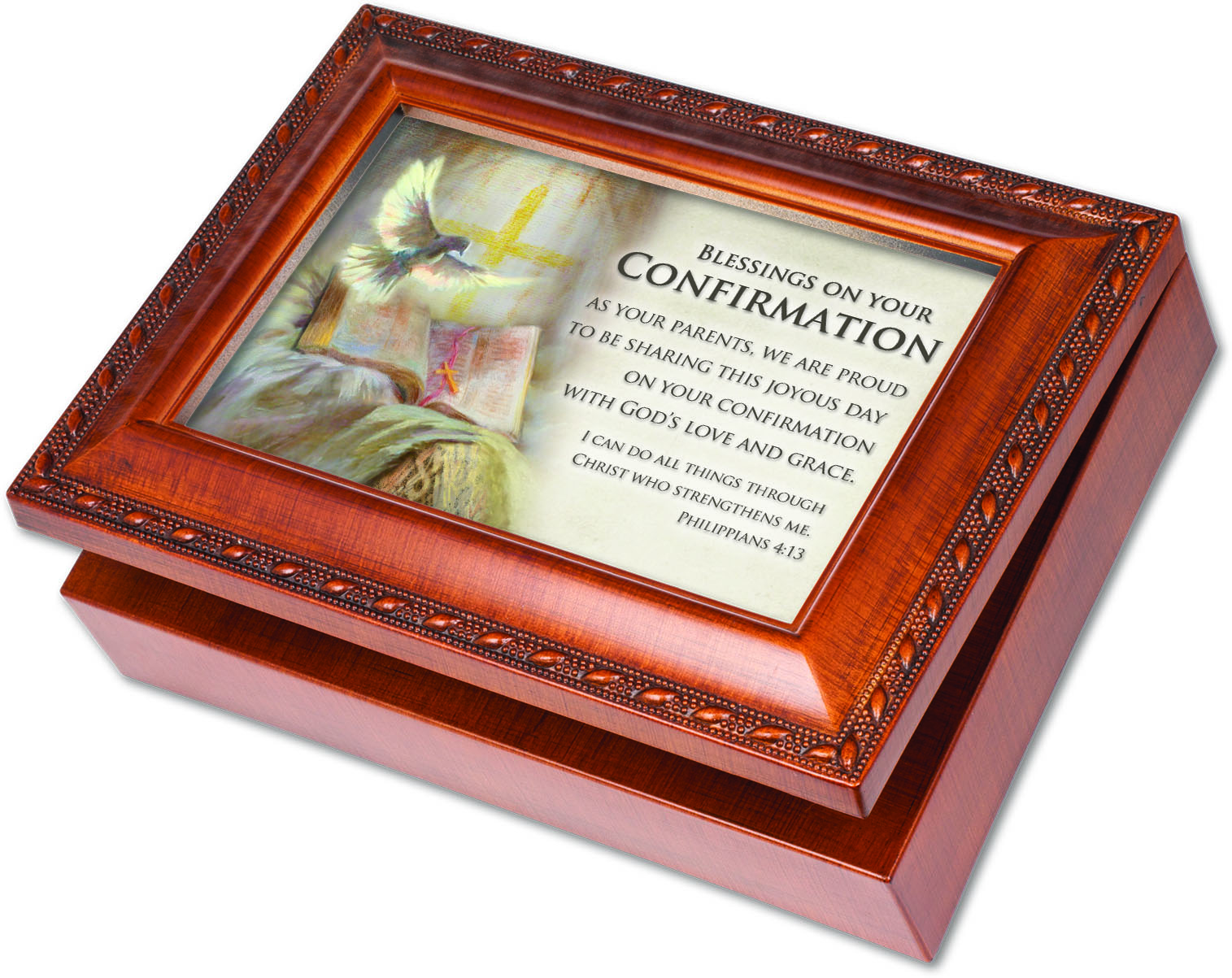 Confirmation Music Box music box, confirmation box, keepsake box, confirmation gift, parents gift, MB2057S