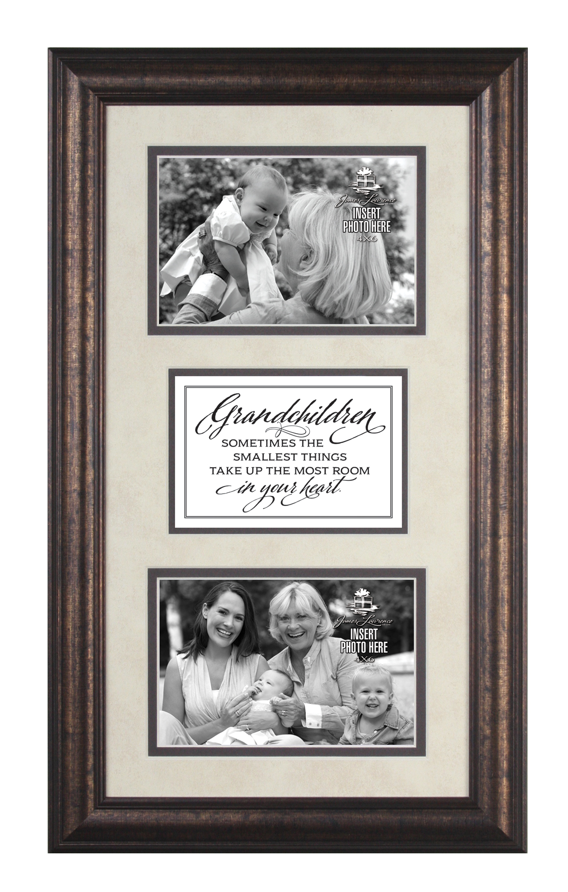 Grandchildren Photo Frame with Verse framed picture, inspirational message, home decor, wall decor, framed art, words of grace, 2623