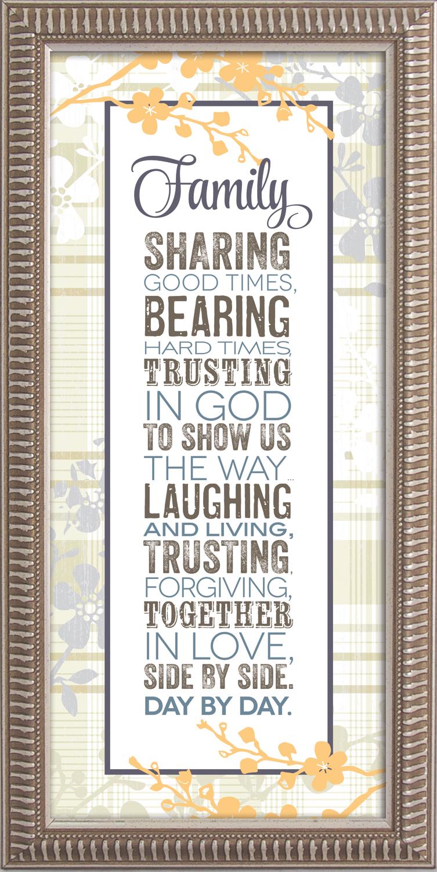 Family Framed Decor framed picture, inspirational message, home decor, wall decor, framed art, words of grace, 3761