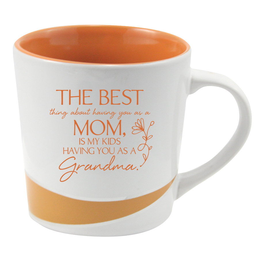 The Best Mom Accent Mug mug, gift mug, orange mug, coffee, tea, home goods, 4840