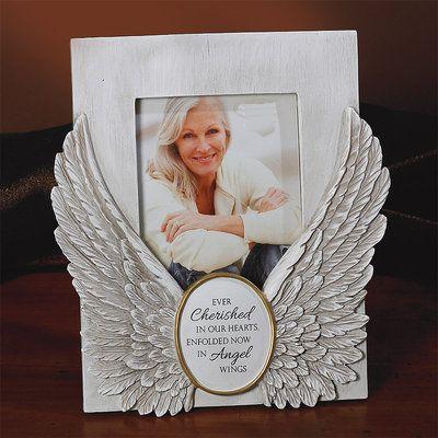 Angel Wings Photo Frame 56216T, memorial gift, memorial frame, picture frame, angel wing frame