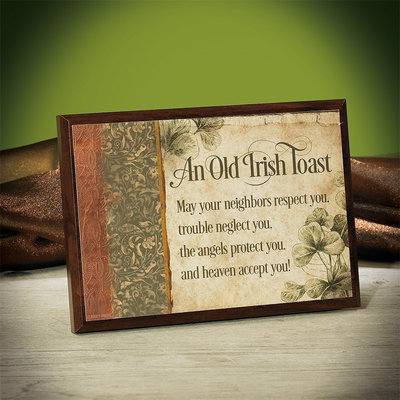 An Old Irish Toast Plaque 56730U, irish plaque, irish toast, home decor, wall decor, irish gift
