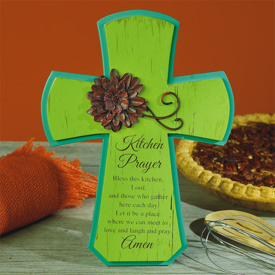 Kitchen Prayer Cross 56667T, kitchen decor, prayer cross, wall cross, kitchen cross, kitchen prayer