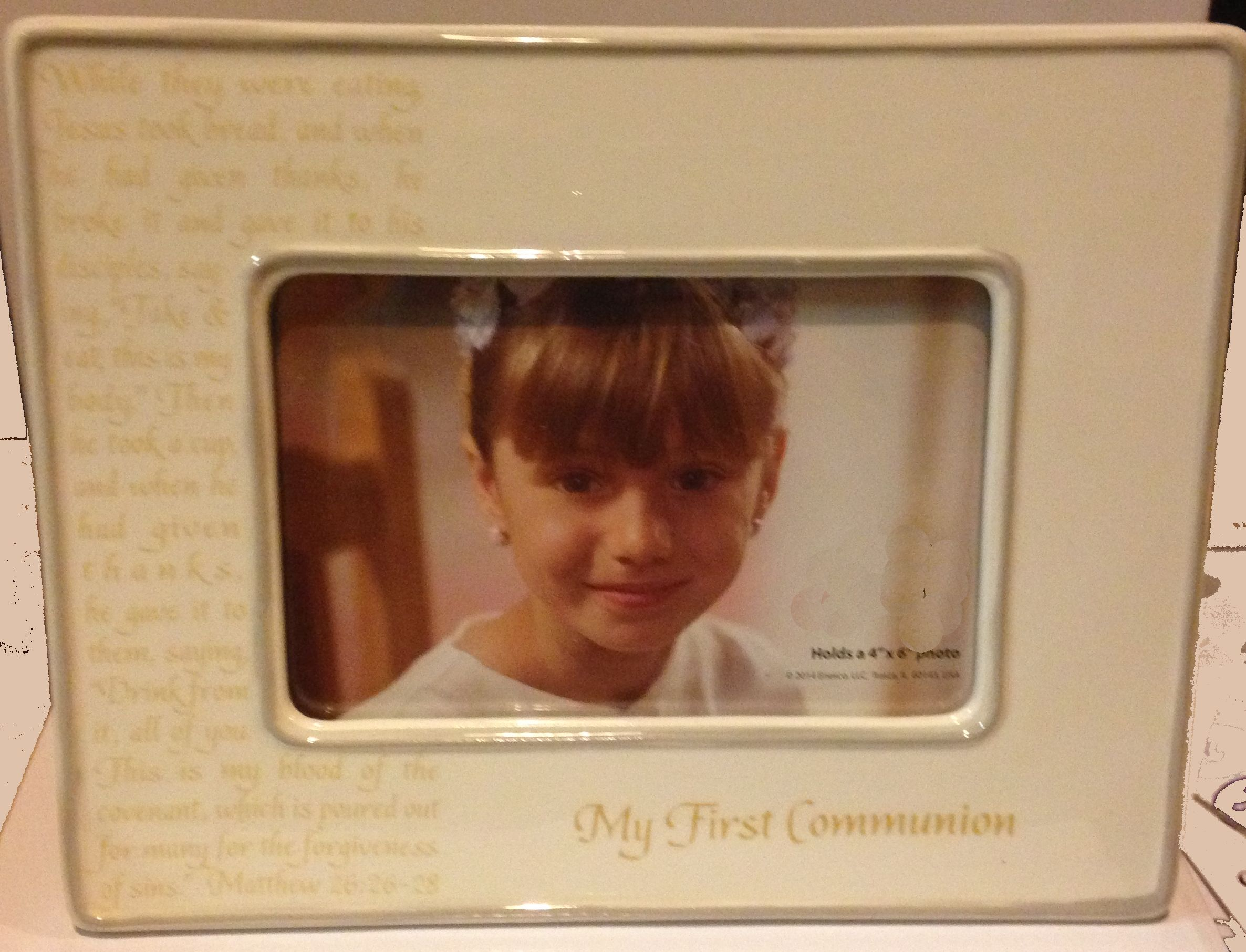 My First Communion Frame sacramental frame, white frame, holy communion, 1st communion, first communion, porcelain, 4047225