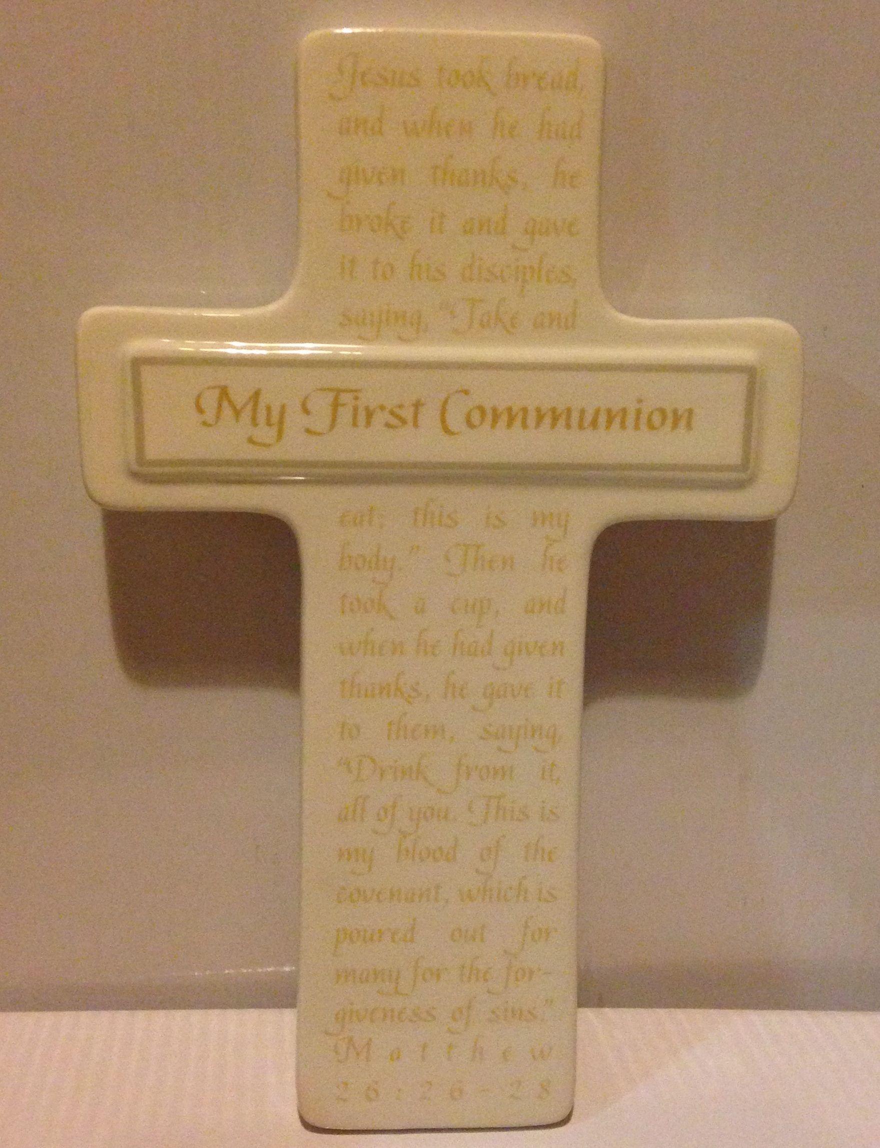 My First Communion Wall Cross first communion wall cross, holy eucharist cross, first communion gift, boy gift, girl gift, sacramental gift, 4047231