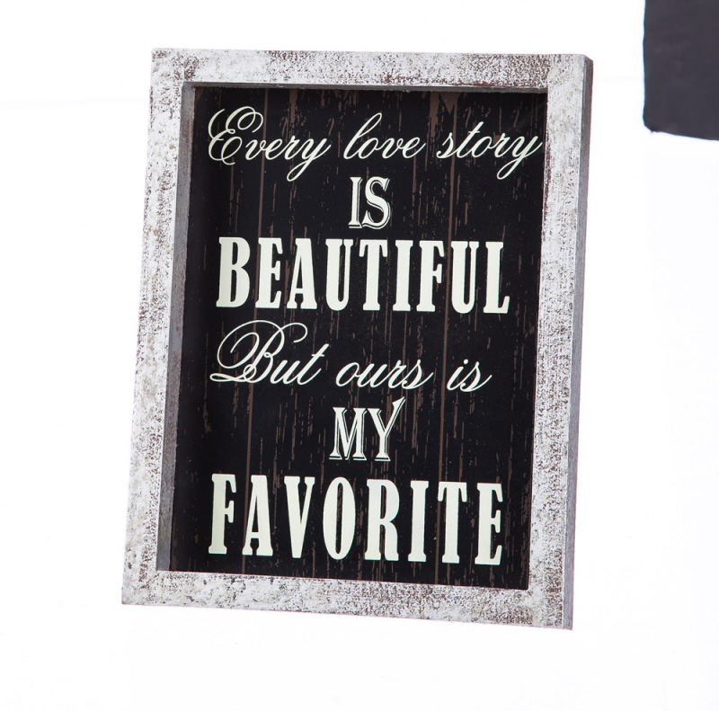 Ever Love Story Plaque home decor, love plaque, house plaque, wall decor, table decor, 6w6718, wedding gift, anniversary gift,