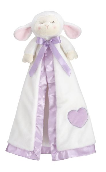 "19"" Lamb Faith Blanket Buddy lamb, plush lamb, blankie, blankie buddy, baby toy, baby blankie, HE10026"
