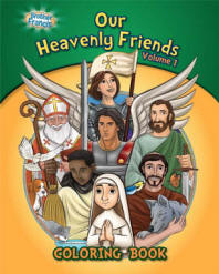 Our Heavenly Friends Vol 1 Coloring and Activity Book coloring book, activity book, stocking stuffers, childs gift, kids gift, school coloring book, sunday school coloring book, christmas gift, sacramental gift,