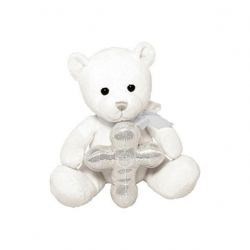 "7"" Tender Love Plush Bear first communion decorations, first communion party supplies, sacramental decorations, communion party, paper products, party supplies, bear, toy plush toy, cross toy, first communion gift, 453437"