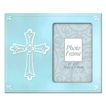 BlueMetal Frame with Cross first communion decorations, first communion party supplies, sacramental decorations, communion party, paper products, party supplies, photo frame, sacramental frame, blue frame, frame with cross,459563.21