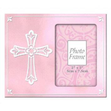 Pink Metal Frame with Cross first communion decorations, first communion party supplies, sacramental decorations, communion party, paper products, party supplies, photo frame, sacramental frame, pink frame, frame with cross,459563.06