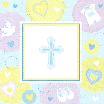 Sweet Christening Blue Luncheon Napkins first communion decorations, first communion party supplies, sacramental decorations, communion party, paper products, party supplies, napkins, luncheon napkins, blue napkins,519423