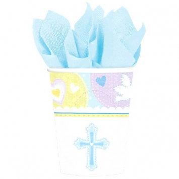 Sweet Christening Blue Cups first communion decorations, first communion party supplies, sacramental decorations, communion party, paper products, party supplies, party cups, beverage cups, blue cups, 589423