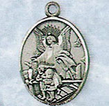 Guardian Angel Medal on Chain angel medal, angel pendant, guardian angel pendant, sterling silver medal on chain, jc-356/1MFT