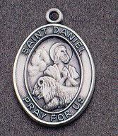 St. Daniel Oval Medal on Chain JC-953/1MFT,patron saint medal, sterling silver medal, chain, necklace, pendant, first communion gift, confirmation gift, sacramental gift,