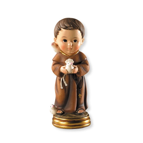 "For Goodness Saints-St. Francis Statue st francis statue, home decor, colored statue, 5"" statue, patron of animals, vc502"