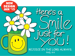 Pass It On-Here%27s a Smile 29157,message cards, holy cards, bookmarks, prayer cards, thougts, card to share, group gifts, inspirational gift, sacramental gifts,