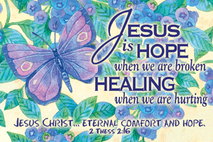 Pass It On-Jesus is Hope 29154, message cards, holy cards, bookmarks, prayer cards, thougts, card to share, group gifts, inspirational gift, sacramental gifts,