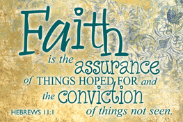 Pass It On-Faith is the Assurance message cards, holy cards, bookmarks, prayer cards, thougts, card to share, group gifts, inspirational gift, sacramental gifts,
