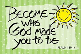 Pass It On-Become who God made you to Be 29125, message cards, holy cards, bookmarks, prayer cards, thougts, card to share, group gifts, inspirational gift, sacramental gifts,