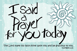 Pass It On-I said a Prayer 29121, message cards, holy cards, bookmarks, prayer cards, thougts, card to share, group gifts, inspirational gift, sacramental gifts,