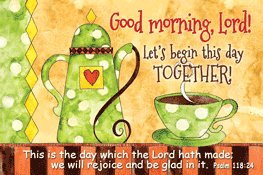 Pass It On-Good Morning Lord 29108, message cards, holy cards, bookmarks, prayer cards, thougts, card to share, group gifts, inspirational gift, sacramental gifts,