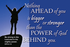 Pass It On-Nothing Ahead of You is Bigger.... 29029, message cards, holy cards, bookmarks, prayer cards, thougts, card to share, group gifts, inspirational gift, sacramental gifts,