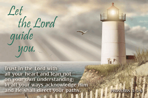 Pass It On-Let the Lord Guide You 29010, message cards, holy cards, bookmarks, prayer cards, thougts, card to share, group gifts, inspirational gift, sacramental gifts,
