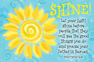 Pass It On-Shine! 29008, message cards, holy cards, bookmarks, prayer cards, thougts, card to share, group gifts, inspirational gift, sacramental gifts,