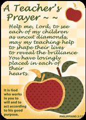 Verse Cards-A Teacher%27s Prayer 13852, verse card, prayer card, inspiration cards, group gift, retreat gifts, message card,
