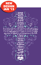 Love is Patient-Large Poster 63429, poster. wall decor, large poster, inspirational message, teacher resource, school supplies, sunday school, classroom,