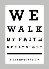 We Walk By Faith-Large Poster 63412, poster. wall decor, large poster, inspirational message, teacher resource, school supplies, sunday school, classroom,