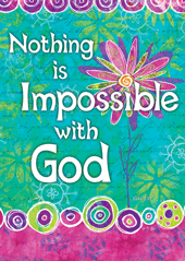 Nothing is Impossible with God-Large Poster 63414, poster. wall decor, large poster, inspirational message, teacher resource, school supplies, sunday school, classroom,