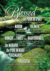 Blessed-Large Poster 63401,  poster. wall decor, large poster, inspirational message, teacher resource, school supplies, sunday school, classroom,
